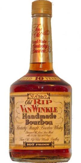 Old Rip Van Winkle Handmade 107 Proof 10 Year Old Bourbon (Older Style Squat Bottling) 750ml Bottle