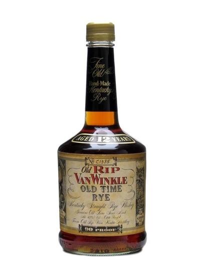 Old Rip Van Winkle Old Time Rye Handmade  12 Year Old  90 Proof Rye Whiskey 750ml Bottle