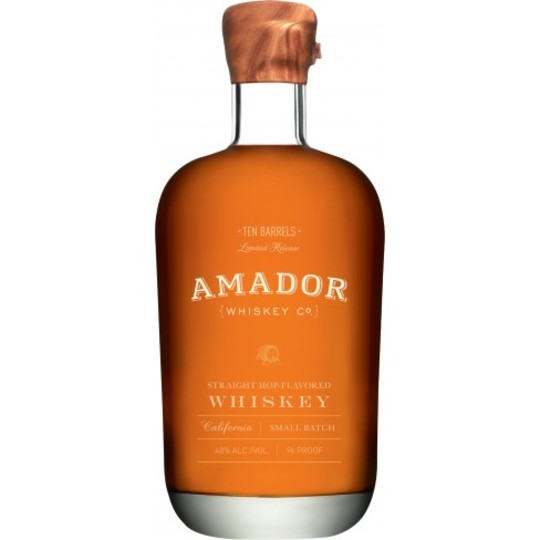 Amador Ten Barrels Straight Hop Flavoured Small Batch Whiskey 750ml Bottle