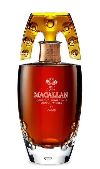 The Macallan Lalique 55 Year Old Single Malt Scotch Whisky 750ml Decanter