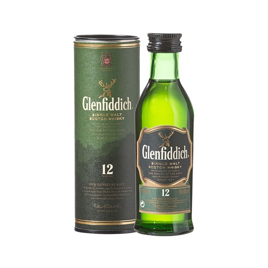 Glenfiddich Special Reserve 12 Year Old Single Malt Scotch Whisky 50ml Bottle