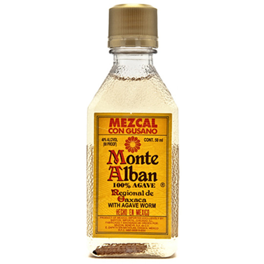 Monte Alban Mezcal con Gusano with Agave Worm 50ml Bottle