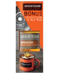Auchentoshan American Oak Scotch with Ale Mug Gift Pack