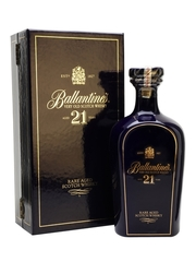 Ballantines Blue Ceramic Decanter 21 Year Old Blended Scotch Whisky