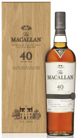 The Macallan 40 Year Old Single Malt Scotch Whisky 750ml Bottle