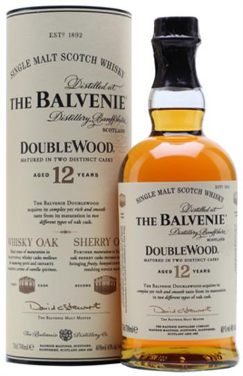 The Balvenie DoubleWood 12 Year Old Single Malt Scotch Whisky 750ml Bottle