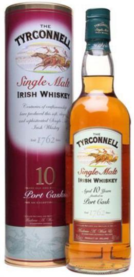 The Tyrconnell Port Cask Finish 10 Year Old Single Malt Irish Whiskey 750ml Bottle