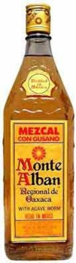 Monte Alban Mezcal con Gusano with Agave Worm 750ml Bottle