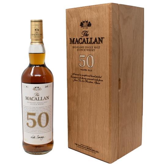 The Macallan 50 Year Old Single Malt Scotch Whisky 750ml Bottle
