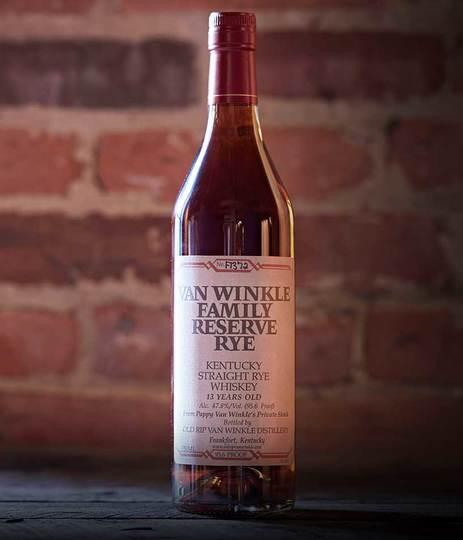 Old Rip Van Winkle Pappy Van Winkle's 13 Year Old Family Reserve Straight Rye Whiskey 750ml Bottle